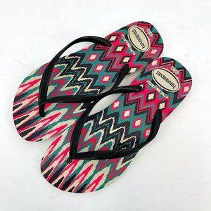 Havaianas Abstract Chevron Geometric Flip Flops